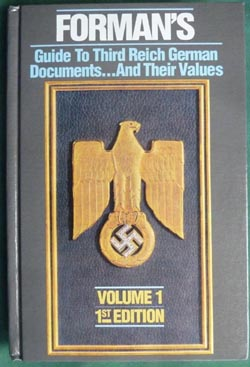 Forman's Price Guide to Third Reich German Documents Volume 1